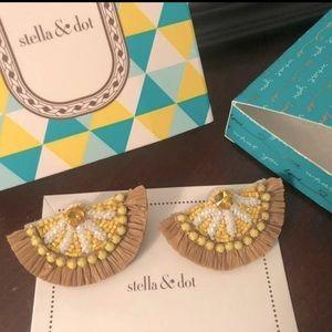 NWT Stella & Dot Lemon Earrings